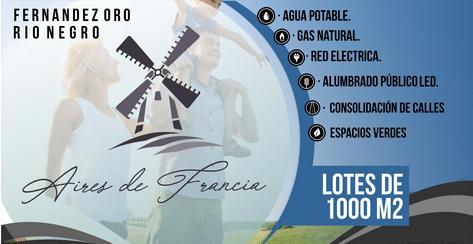 "Loteo ""Aires de Francia"" – Gral. Fernandez Oro"